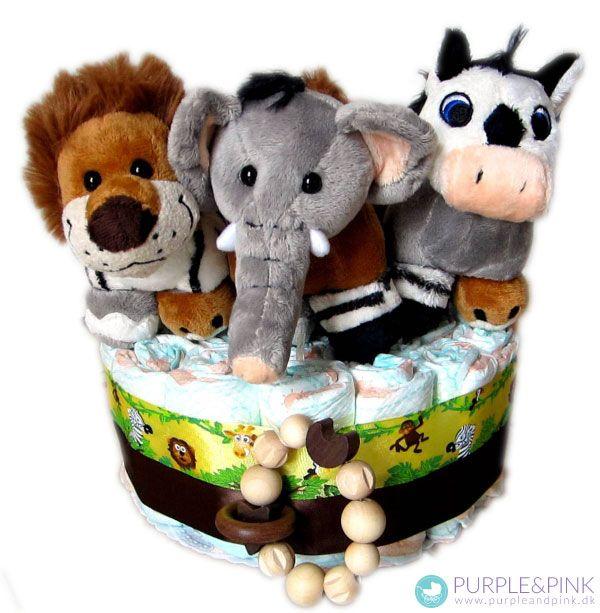 Safari Cake - Diaper Cake får nyt design. #blekage #barselsgave #baby shower