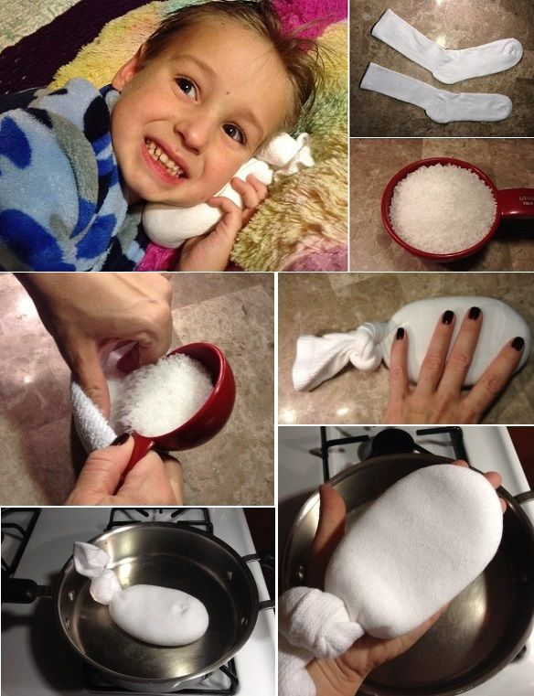 Here is a quick solution that helps easing pain and discomfort for ear infections.  Make magical salt sock--> http://wonderfuldiy.com/wonderful-diy-magical-salt-sock-for-ear-infection-relief/