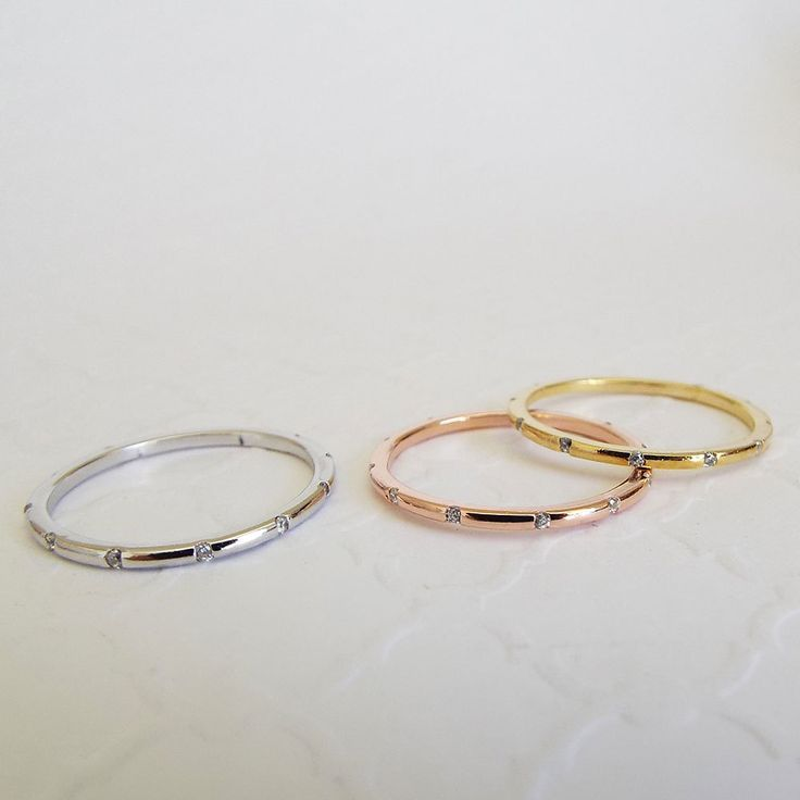 Thin Gold Flush Diamond Setting Full Eternity Ring Cartier Inspired Gold Color Stacking Ring Cz
