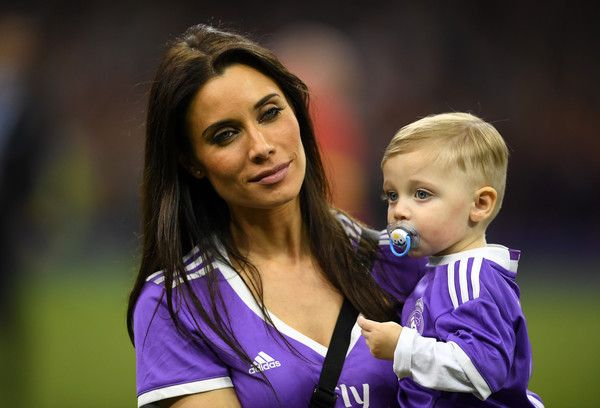 Pilar Rubio, Sergio Ramos wife is seen with their child after the UEFA Champions League Final between Juventus and Real Madrid at National Stadium of Wales on June 3, 2017 in Cardiff, Wales.