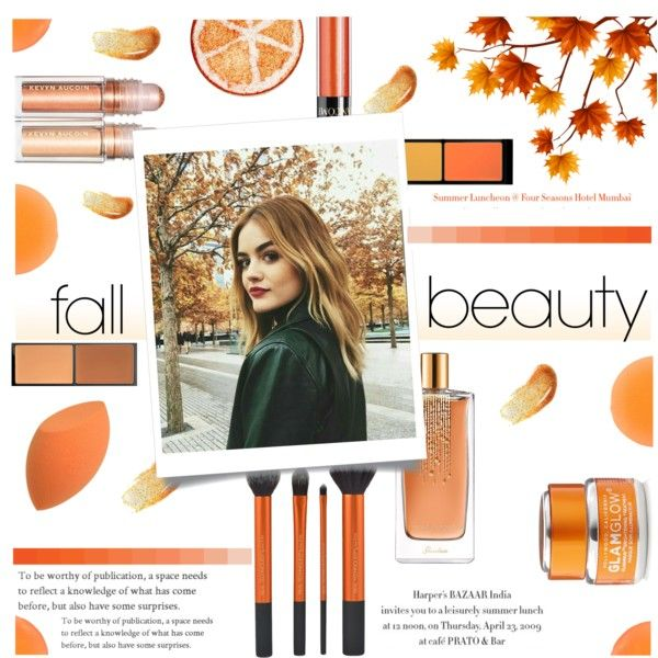 Fall Beauty : Lucy Hale by nendeayesika on Polyvore featuring polyvore, beauty, MAC Cosmetics, Lancôme, Guerlain, GlamGlow and Zelens