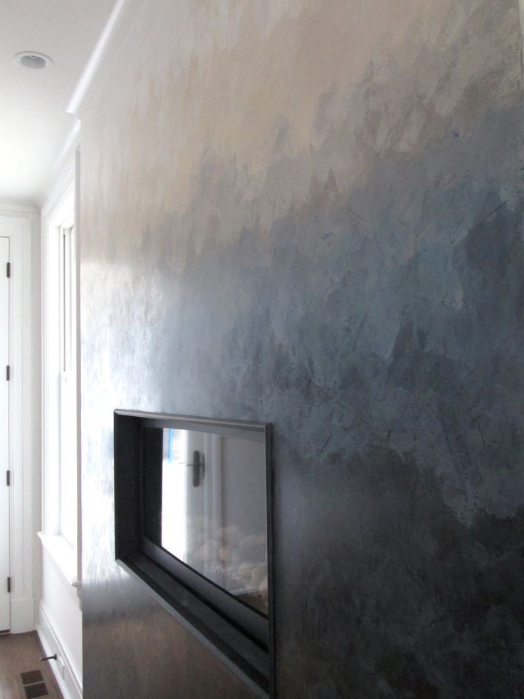 Ombr Effect Created With Venetian Plaster And Then Polished For A Soft Stone Look Feel By