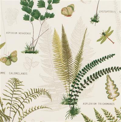 Kew Garden Fabric in Green (Single Width)