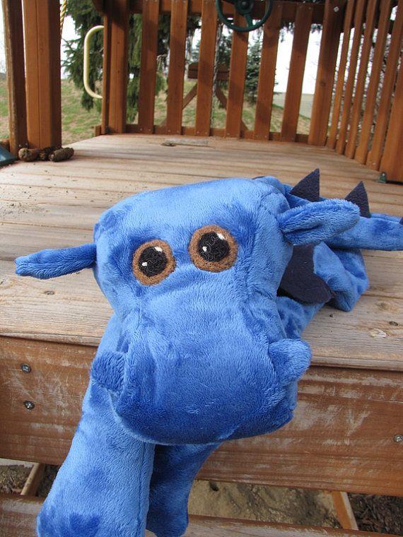 Dragon STUFFED ANIMAL Sewing Pattern by WarmFuzziesByGen on Etsy, $9.00