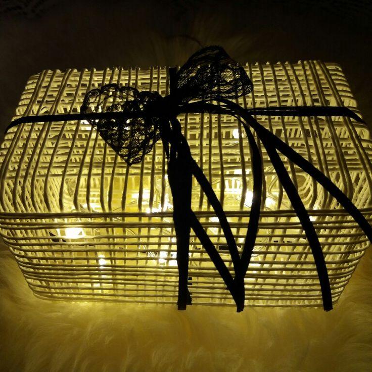 Paperinarulaatikko, valolaatikko, valot, itse tehty, diy.