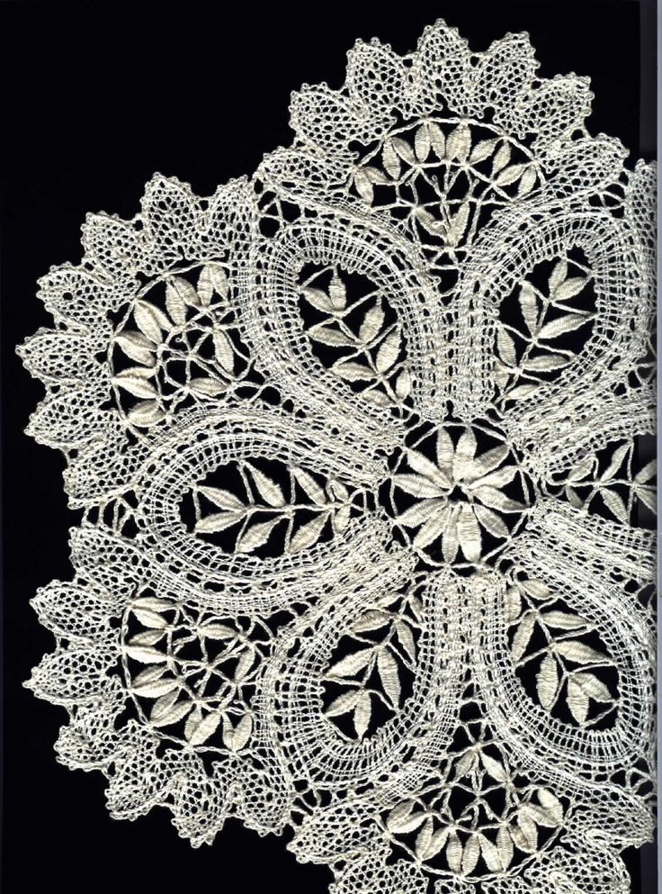 lace. this is Idrija Lace, created in Slovenia. It was an important source of income for miners' families