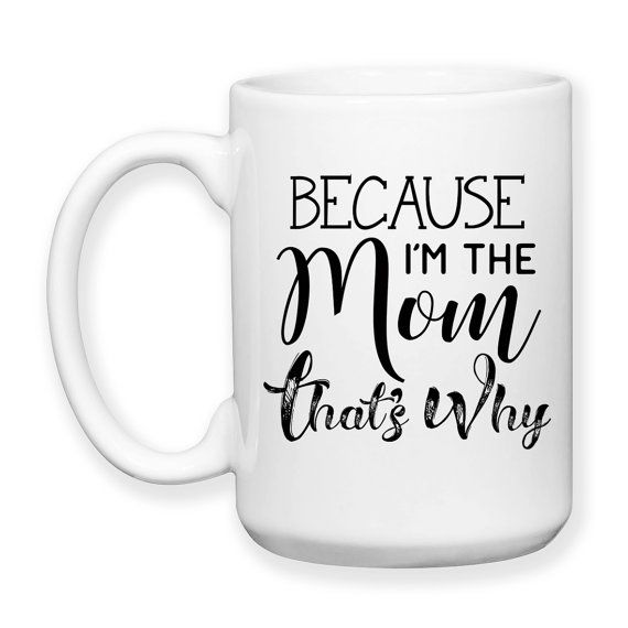 Mother's Day, Mom's Birthday, Because I'm The Mom That's Why, Teenagers, Kids, Children, Parenting, Funny Mom Mug, Typography, 15 oz, Coffee Mug, Tea Mug, Cocoa Mug, Dishwasher Safe / Microwave Safe    ★★★★★★★★★★★★★★★★★★★★★★★★★★★★★★★★★★★★★★★★★★★    This mug design is professionally created and inked in FL. USA.    Each item is made after receiving an order, and due to the hand made and custom designed nature the items can vary slightly from the picture shown. Monitors may display colors…
