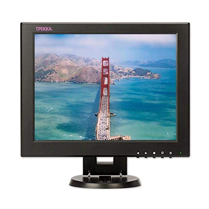 12 inch LCD Monitor VGA//AV//HDMI//TV Input Display Security Camera 800 x 600 Computer Screen Compatible for CCTV