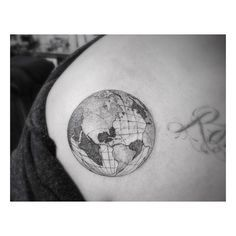 Great little black and grey ink globe.