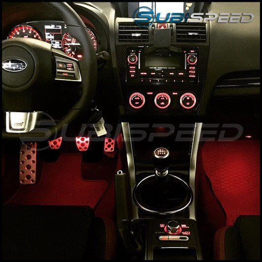 Subaru Footwell Lighting Kit - 2015+ WRX / 2015+ STI-Red