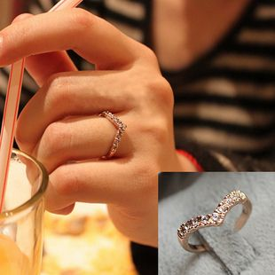 Creative new V-shaped diamond pinkie ring unique design models [0883] - $0.74 : Favor21.com cheap fashion jewelry,Cheap cosplay wigs, wig supplier, jewelry wholesale, Costume Jewelry stores,cheap fashion rings,cheap bracelets,cheap fashion necklace,cheap fashion earrings, hair wigs, costume wigs, wigs wholesale, wig store, party wigs, women wigs, mens wigs,curly wigs,favor21.com
