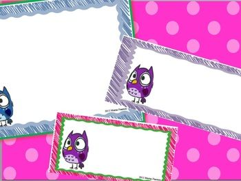 Editable Owl Labels for Back-to-School