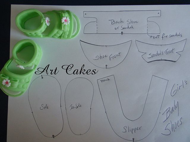 Baby Sandals Template by Art Cakes, via Flickr