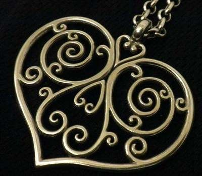 "Brighton ""Marston"" Silver-plated Scroll Heart Pendant 16""-18"" Chain Necklace NWTS Pouch JN2390"