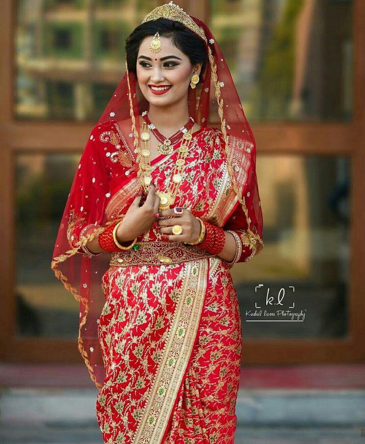 14 best Nepali Bridal Wears images on Pinterest | Wedding ...