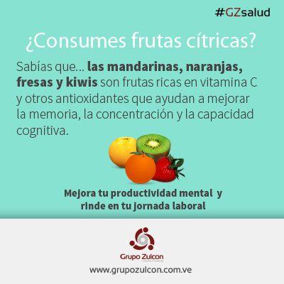#GZsalud: te recomendamos comer al menos una fruta cítrica al día. #MenteSana