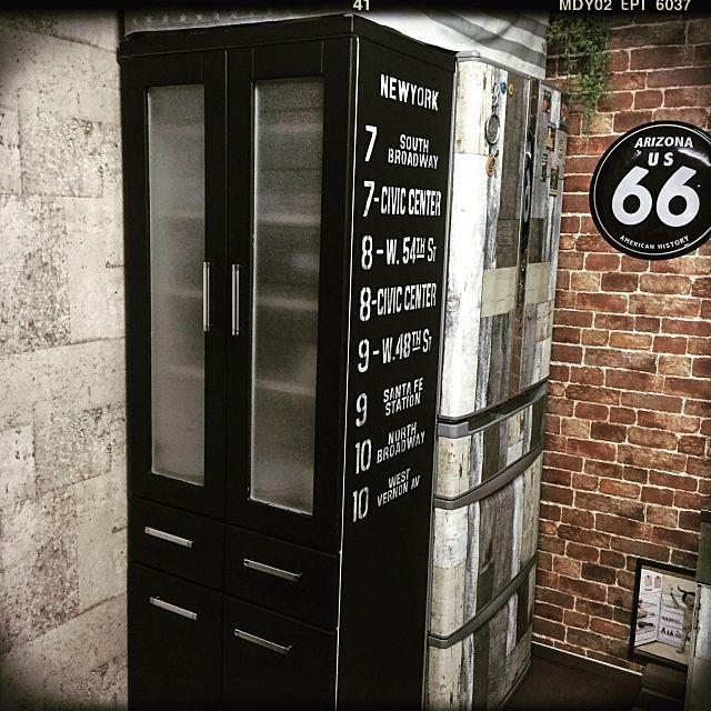 女性の、1LDK、一人暮らしの「棚」についてのインテリア実例