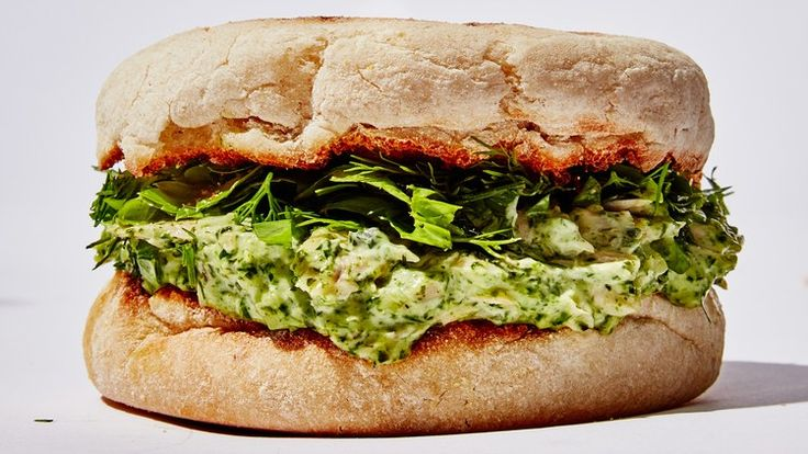 Green Goddess Tuna Salad Sandwich Recipe   Bon Appetit INGREDIENTS ¼ cup basil leaves ¼ cup parsley leaves with tender stems ¼ cup tarragon leaves ¼ cup mayonnaise ¼ cup sour cream 1 tsp. finely grated lemon zest 2 Tbsp. plus 1 tsp. fresh lemon juice 2 Tbsp. extra-virgin olive oil, plus more for drizzling 1 5-oz. can tuna in water, drained 1 celery stalk, finely chopped 1 small shallot, finely chopped 1 garlic clove, finely grated Kosher salt, freshly ground pepper ½ cup coarsely chopped…