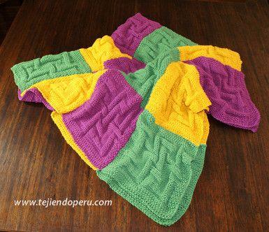 Paso a paso: cubrecama hecho con cuadrados tejidos en dos agujas o palitos!