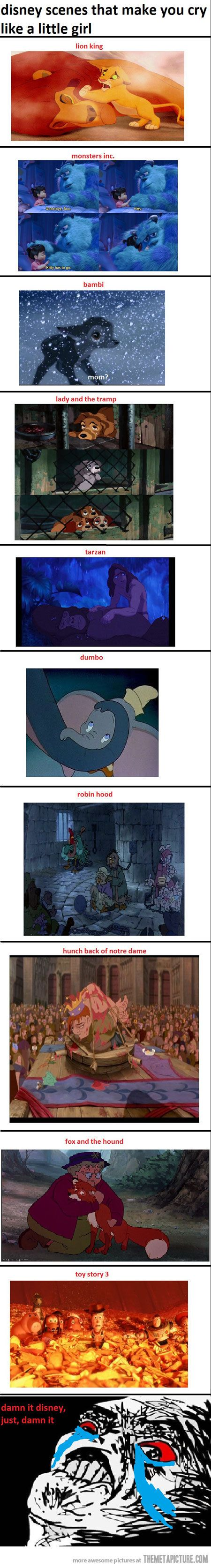 Plus that one scene from the 2nd Lilo and Stitch movie when you think Stitch has died...