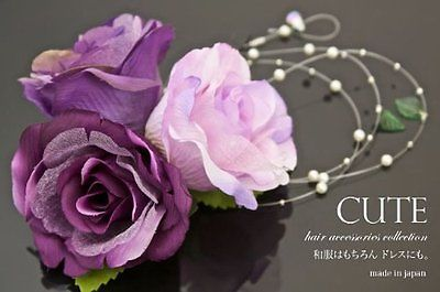 "Japanese Ornamental Hairpin""Gesiha Hair Corsage 58 ""Hair Ornament Flower Rose   eBay"