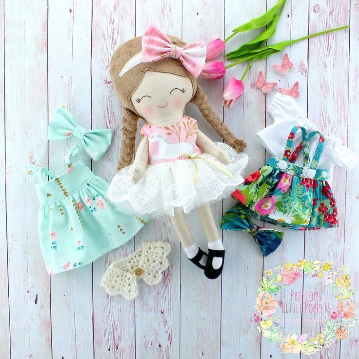 Handmade Cloth Dress Up Doll by Precious Little Poppets  www.preciouslittlepoppets.com.au