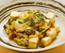 eヘルシーレシピ - 豆腐とうなぎの卵とじ - 第一三共株式会社
