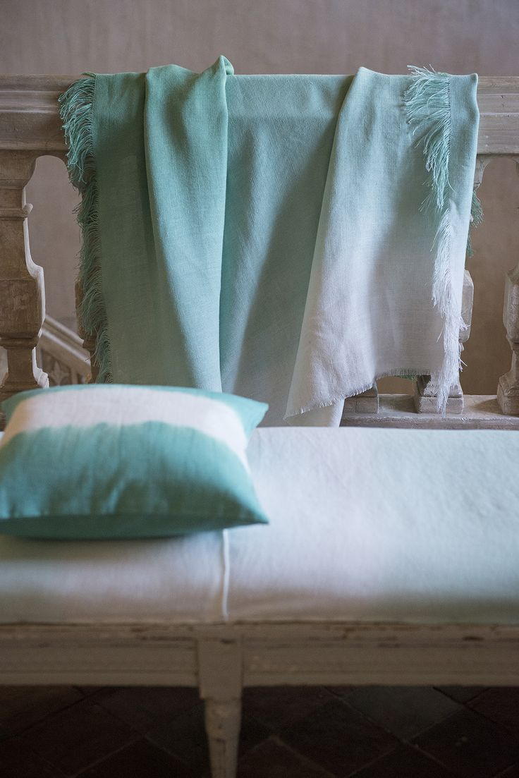 Pale Jade throw working beautifully with our Savine cushion new for SP13