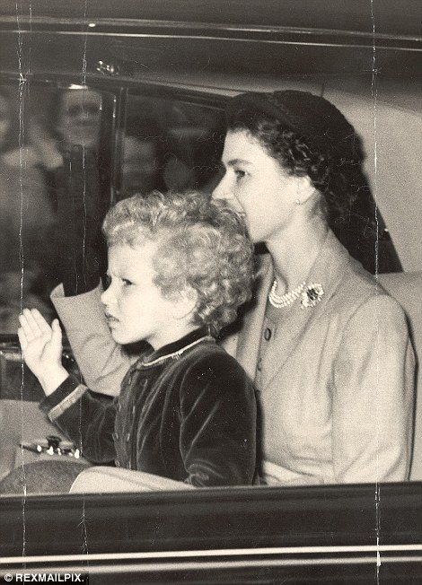 The Queen and Princess Anne, pictured in 1954 on their way to Scotland