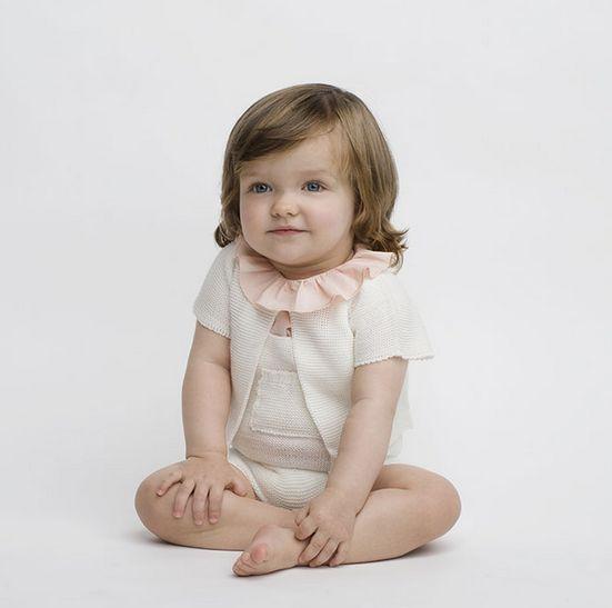 Conjunto de punto para bebés blanco
