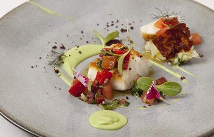 #FabulousFish  - Icelandic Cod with creamy Avocado & Chorizo #Recipe by @AgnarSverrisson via @Great British Chefs
