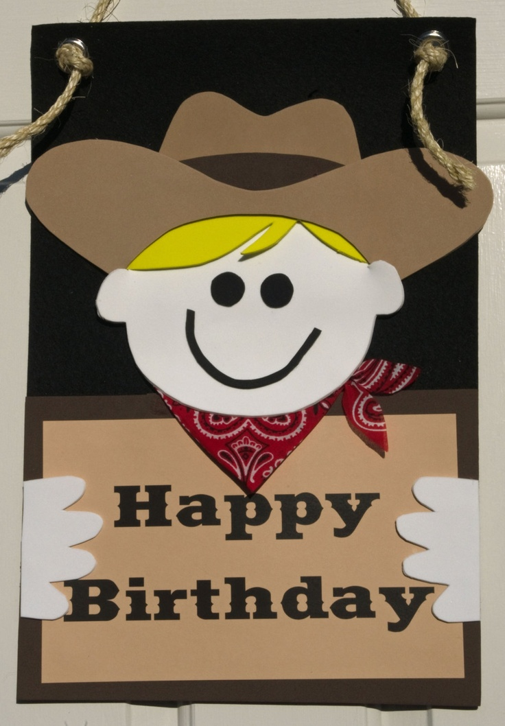 Cowboy Party Wall/Door Sign by HatterandHareEvents on Etsy, $15.00