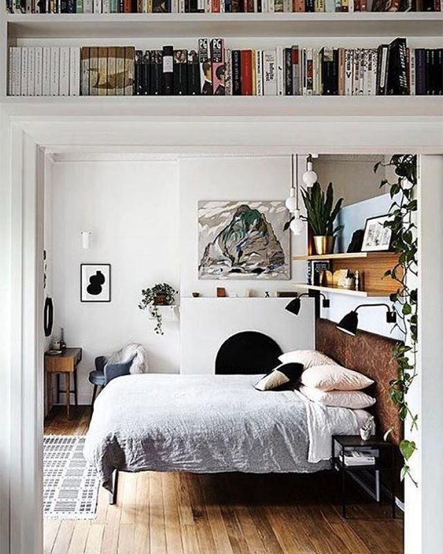 Another one of those beautifully styled bedrooms. via @sfgirlbybay #scandinavian #bedroom #simplicity #interiors #whiteliving