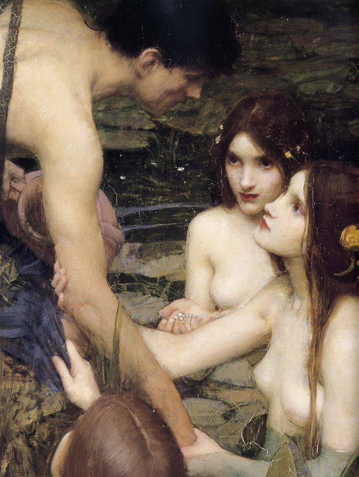 John William Waterhouse, Hylas and the Nymphs (detail), 1896
