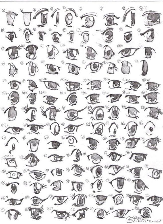 How to draw anime girl eyes