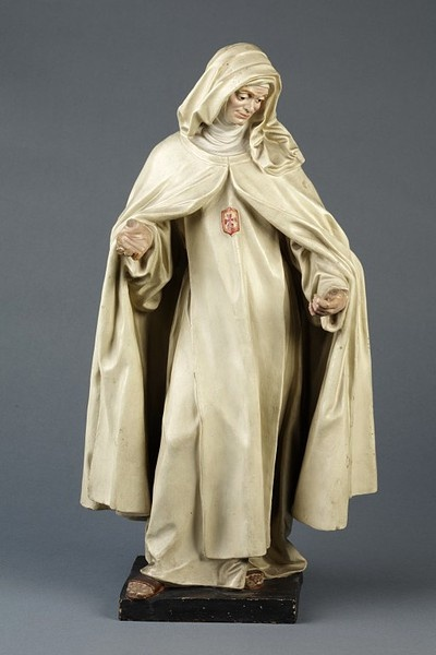 Julian San Martin, Beata Mariana de Jesus, painted terracotta statuette made in the late 18th century.