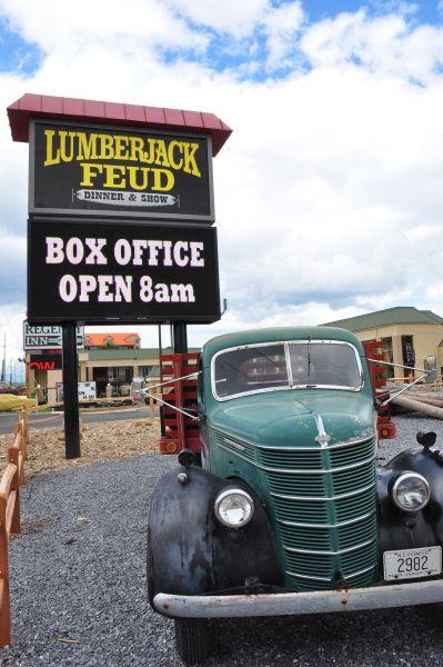 Lumberjack Feud Dinner Show in Pigeon Forge.