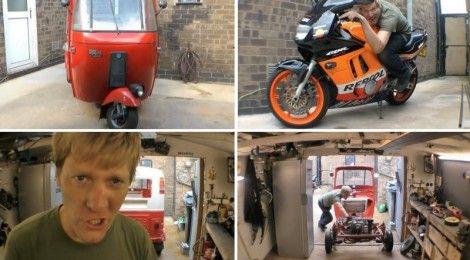 Bajaj auto rickshaw trades engine with Honda CBR650F [Video]