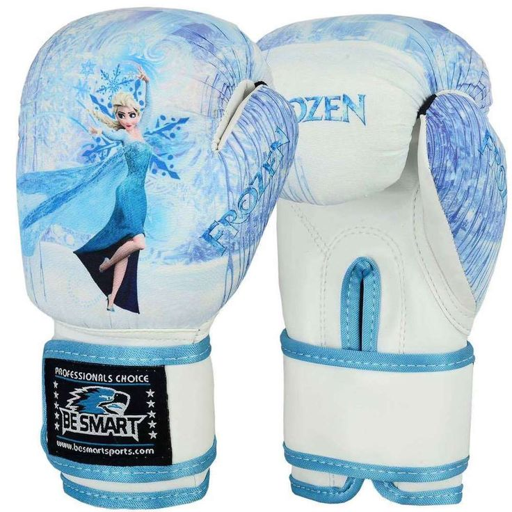 FROZEN Kids Boxing Gloves Junior Mitts 4oz 6oz Punch Bag Children MMA Youth #BeSmart