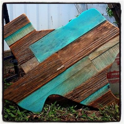 Gorgeous turquoise and wood Texas