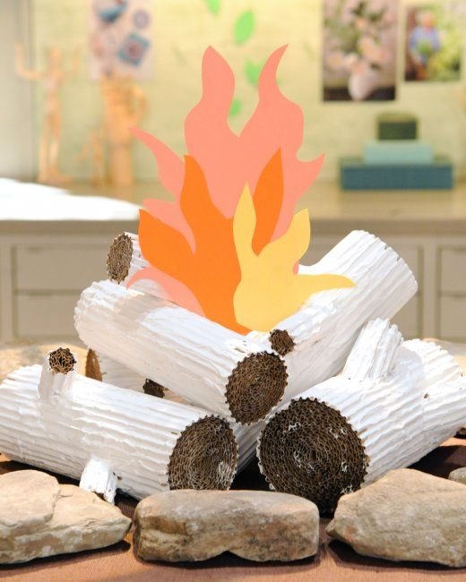 how to make a fake campfire for kids