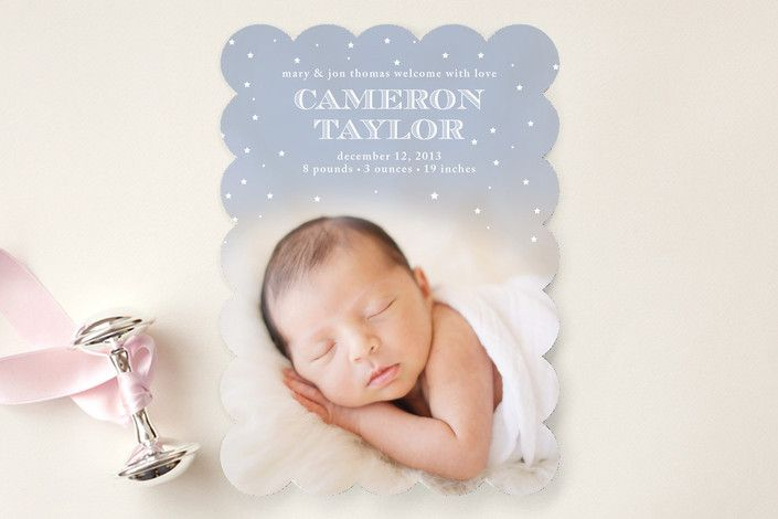 Sweet Dreams Birth Announcements by Catherine Fitzpatrick at minted.com