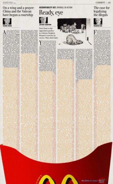 Publicidad en periódicos.