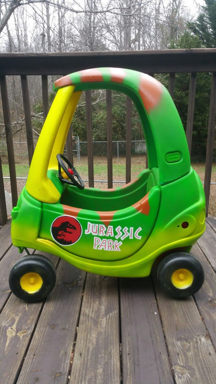 Jurassic Park Cozy Coupe Makeover