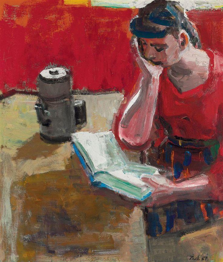 Woman Reading, David Park. American (1911 - 1960)