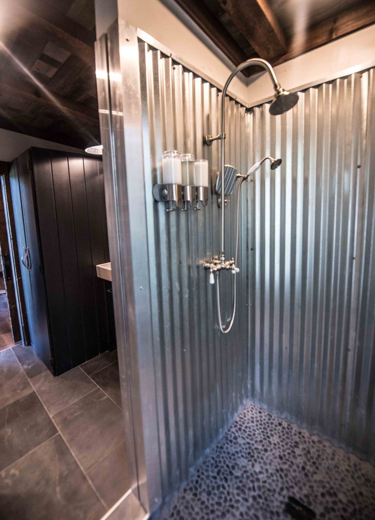 Jump Shack Steel or Galvanized metal shower.