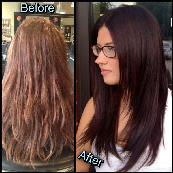 Dark Brown Hairburst Brunette Style Natural Hair Color