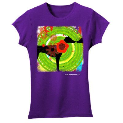 "Ethical Fashion T Shirts for Girls by Salamanda Co -""Mirrordog"" - Salamanda Co"