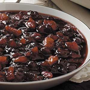 Fruity Cranberry Chutney Recipe -- to serve with cream cheese and crackers. Thanksgiving.