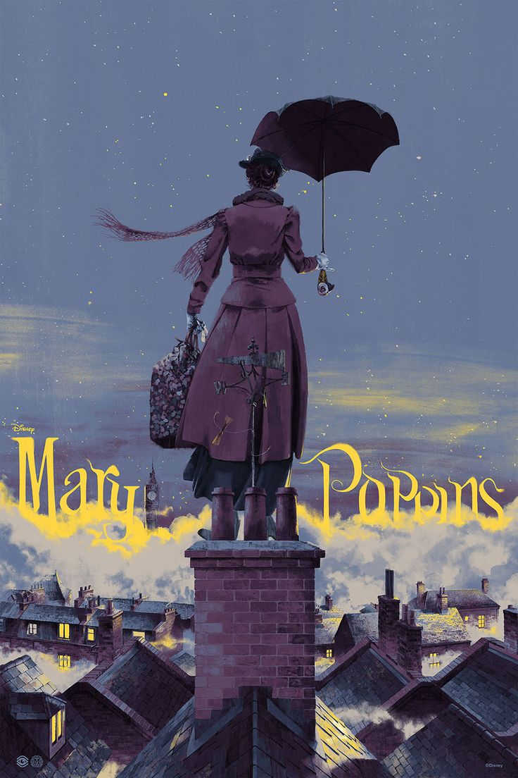 Mary Poppins, by Marc Aspinall #marcaspinall #marypoppinsprint